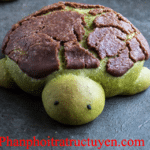 Cách làm bánh matcha trà xanh hình con rùa